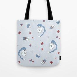 Snow boy pattern Tote Bag