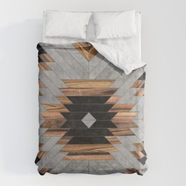 Urban Tribal Pattern No.6 - Aztec - Concrete and Wood Bettbezug