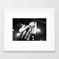 panic at the disco Framed Art Prints featuring Panic At The Disco - Brendon Urie by Lights & Sounds Photography