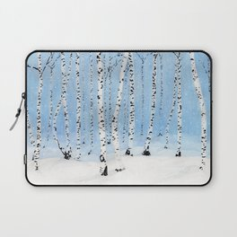 Late Afternoon Snowstorm in the Forest Laptop Sleeve