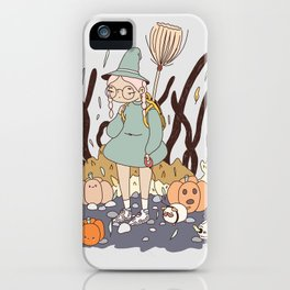LOST ON THE WAY TO THE WITCH ACADEMY iPhone Case