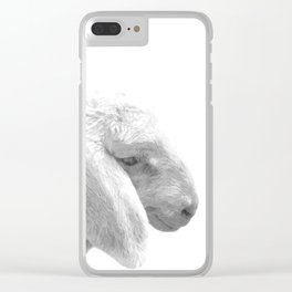 Black and White Sheep Clear iPhone Case