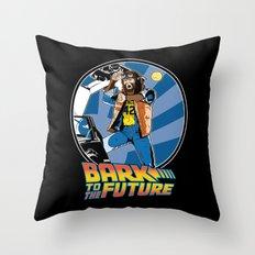 Bark to the Future Throw Pillow