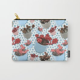 Beautiful Succulent Print Carry-All Pouch