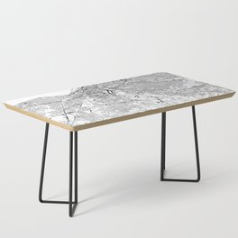Cleveland White Map Coffee Table