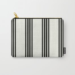 Simply Black White Stripe Carry-All Pouch