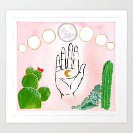 Cactus Moon Garden Art Print