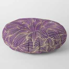 Tangles Violet and Gold Floor Pillow
