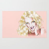 britney spears Area & Throw Rugs featuring Britney Spears Ooh La La by Eduardo Sanches Morelli