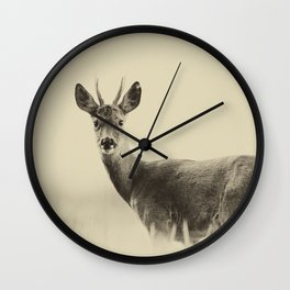 Vintage Roe Deer Wall Clock