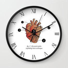 Five Point Palm Exploding Heart Technique Wall Clock