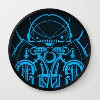 robot Wall Clocks featuring Robot by Martin Laksman