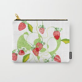 Patterned Strawberries Carry-All Pouch