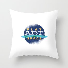 Funny Space Gift, Flat Earth Space, Space Lover design Throw Pillow