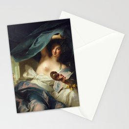 Jean-Marc Nattier - Thalia, Muse of Comedy Stationery Cards