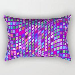 Lilac colorful Mosaic Rectangular Pillow