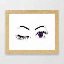 Violet Wink (Left Eye Open) Framed Art Print