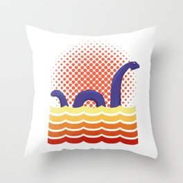 Nessie the Loch Ness Monster Throw Pillow