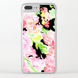 flora series xv in contrast Clear iPhone Case