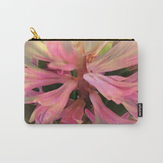 In The Pink Hyancinth Abstract  Carry-All Pouch