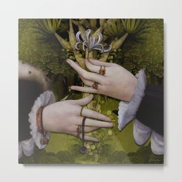 """The hands of Bosch and the Spring"" Metal Print"