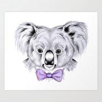 koala Art Prints featuring Koala by 13 Styx