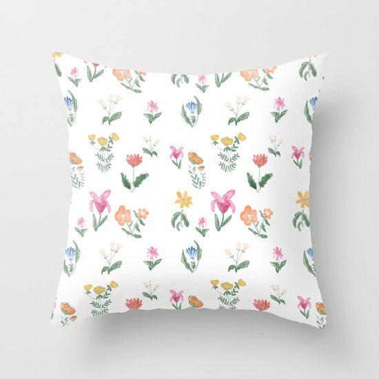 Spring Garden Throw Pillow by Chotnelle Society6