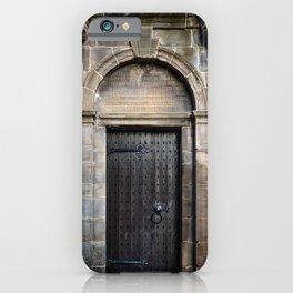 Edinburgh Mercat Cross Door iPhone Case