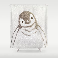 The Little Intellectual Penguin Shower Curtain