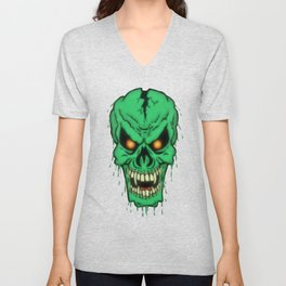 Slimy Skull Unisex V-Neck