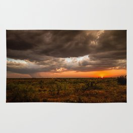 West Texas Sunset - Colorful Landscape After Storms Rug