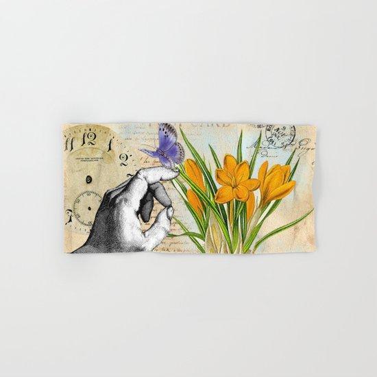 Vintage Crocus Flower #10 Hand & Bath Towel