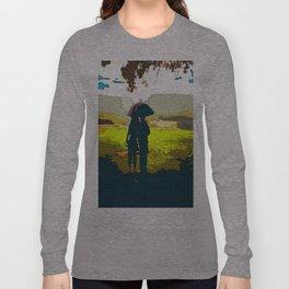 Kentuck Knob admiring the view Long Sleeve T-shirt