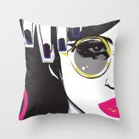 depeche mode Throw Pillows featuring Mode by shutupjade