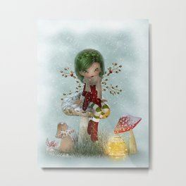 Winter Green Metal Print