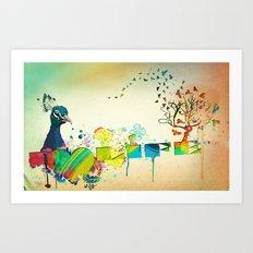 I Heart Life Art Print