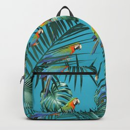 Parrots in the Tropical Jungle #2 #tropical #decor #art #society6 Backpack