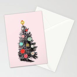 Retro Christmes tree no2 Stationery Cards