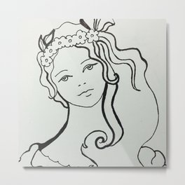 Adorable Girl Metal Print