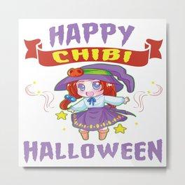 Halloween Chibi Anime Manga Otaku Kawaii Mangaka Metal Print