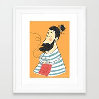 knitting Framed Art Prints featuring knitting by Milla Scramignon