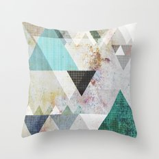 Graphic 3 blue Throw Pillow