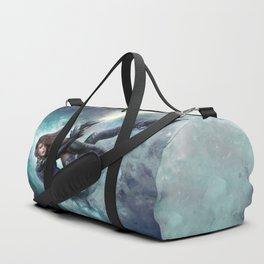 Espionage 101 - Futuristic sci-fi girl spy Duffle Bag