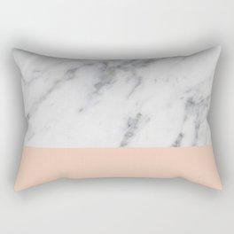 Marble and Blush Pink Rectangular Pillow