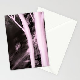 Pink Powder Lace Trees Stationery Cards