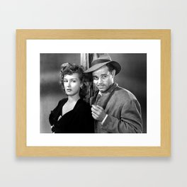 Ann Savage and Tom Neal Poster Framed Art Print