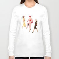 givenchy Long Sleeve T-shirts featuring 1950's Girls by Art of Tom Tierney
