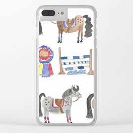 Jumper Ponies Clear iPhone Case