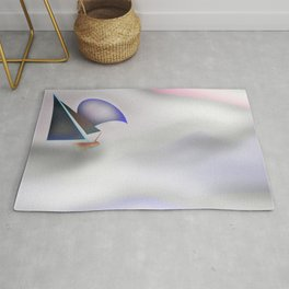 My Clouding Mountains - shoes stories Rug