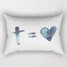 cross equals love Rectangular Pillow